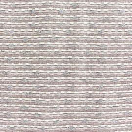 Lurex linen fabric - Brunelle pink x 10cm