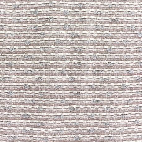 Tissu lin lurex Brunelle rose x 10cm