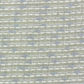 ♥ Coupon 35 cm X 130 cm ♥ Tissu lin lurex Brunelle jaune
