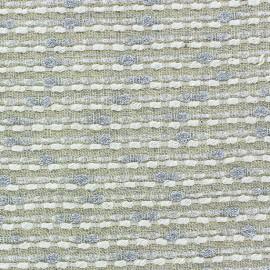♥ Coupon tissu 35 cm X 130 cm ♥ Lurex linen fabric - Brunelle yellow