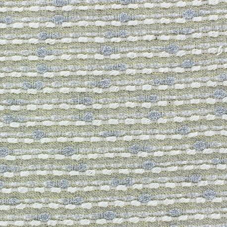 Lurex linen fabric - Brunelle yellow x 10cm
