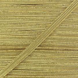 Flat lurex elastic - golden