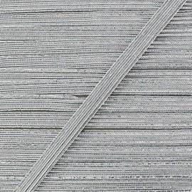 Flat lurex elastic - silver