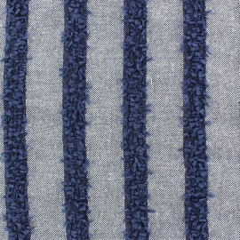 Striped Linen Fabric - Daphné x 10cm