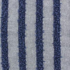 Tissu lin rayé Daphné x 10cm