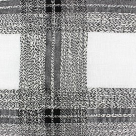 Linen Fabric Madras - black x 10cm