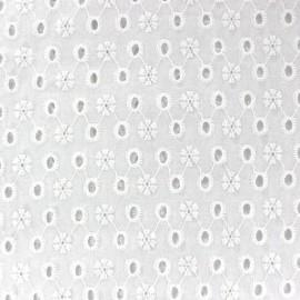Jane Embroidered Openwork Cotton Fabric x 10cm