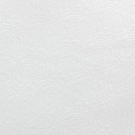 Tissu Damassé Roses écru x 10cm