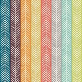 Cotton Fabric Quill Stripe Multi x 10 cm