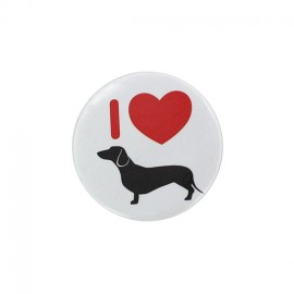 Badge rond i love cats
