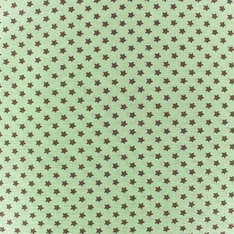 Tissu Poppy Little one Etoiles vert x 10cm