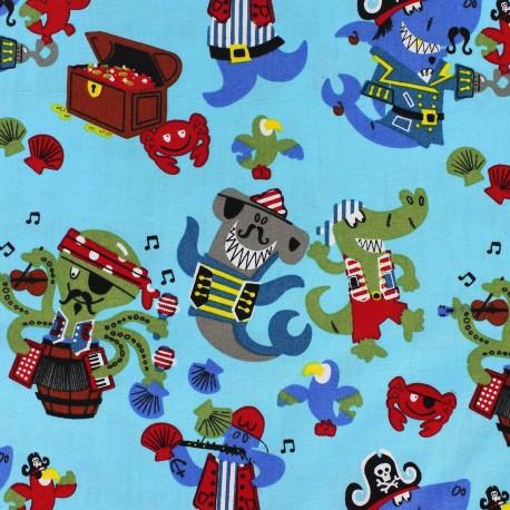 Tissus pas cher 100 coton tissu coton pirate 39 s party for Kids pirate fabric