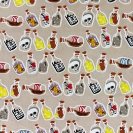 Tissu coton Pirate's Poison beige x 10cm