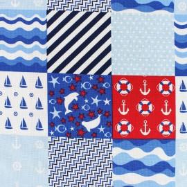Tissu coton Mettre les voiles Patch x 10cm