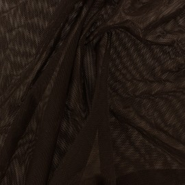 Flexible tulle fabric - chocolate x10cm