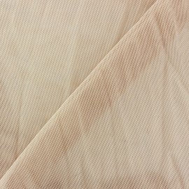 Flexible tulle fabric - beige x10cm