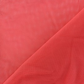 Flexible tulle fabric - coral x10cm