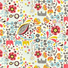 Jersey Fabric Frolic Girl x 15,5cm