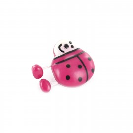 Bouton Polyester Spring Coccinelle fuchsia