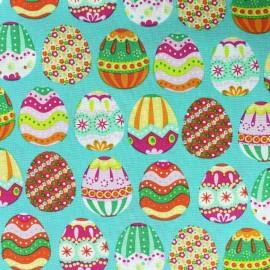 Tissu coton Happy Easter opaline x 10cm