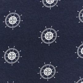 Tissu Jersey gouvernail marine x 10cm