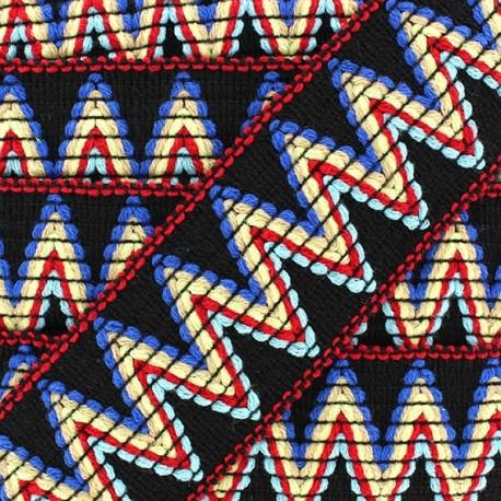 Ruban galon élastique Incas noir x 50cm