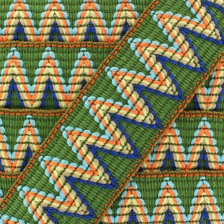 Ruban galon élastique Incas vert x 50cm