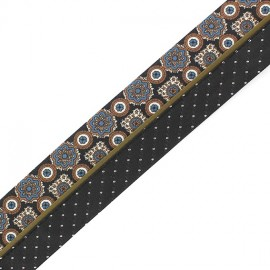"Trousers Ribbon Belt  ""Appoline"" x 10cm - black"