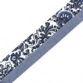 "Trousers Ribbon Belt  ""Capucine"" x 10cm - blue"