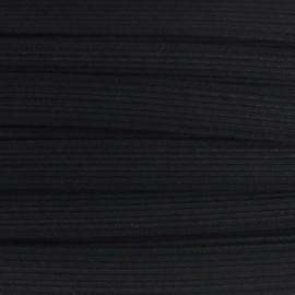 Élastique plat tissé noir 11 mm