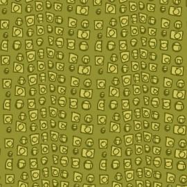 Tissu Succulents - B vert clair x 10cm