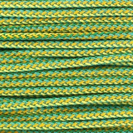 Braided Cord 4mm - green/yellow