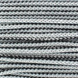 Braided Cord 4mm - blue/black