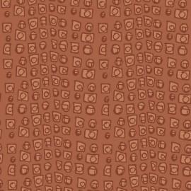 Tissu Succulents - B corail x 10cm