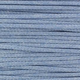 Shiny Cord 3mm - sky blue