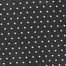Cretonne Cotton Fabric - Drop white/black x 10cm