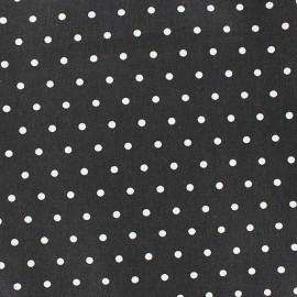 Tissu coton cretonne Drop blanc fond noir x 10cm