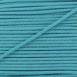 Cordon lurex 3mm turquoise
