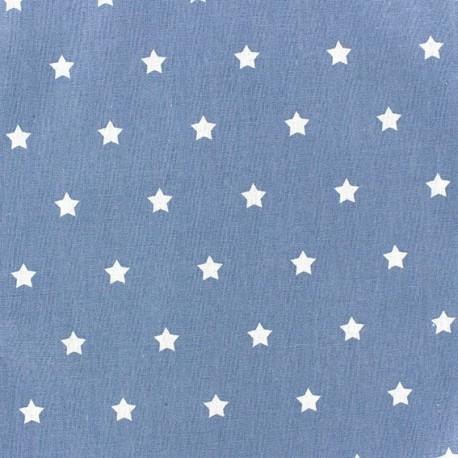 Cotton cloth fabric Stars - denim x 10cm