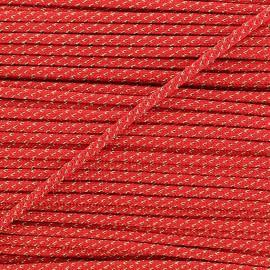 Cordon lurex 3mm rouge