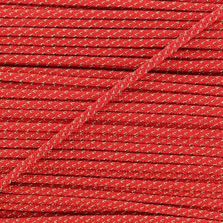 Lurex Cord 3mm - red
