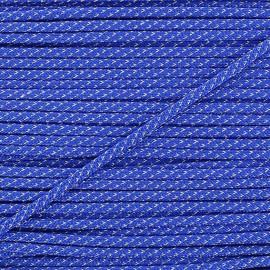 Cordon lurex 3mm bleu