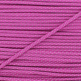 Cordon lurex 3mm fuchsia
