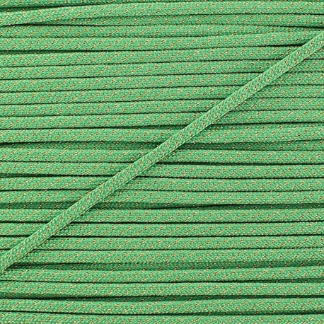 Cordon lurex 3mm vert