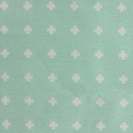tissu Popeline toujours plus vert d'eau x 10cm