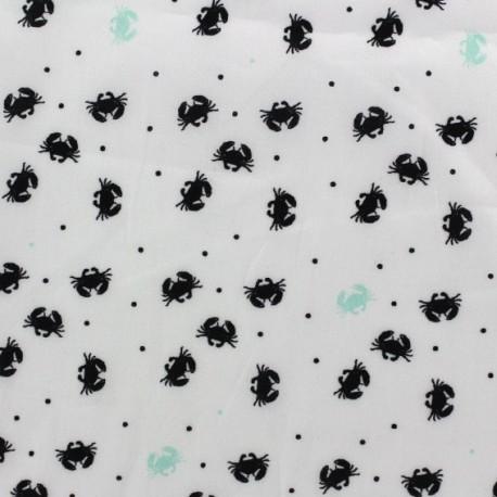 Tissu batiste pince-moi vert d'eau x 10cm
