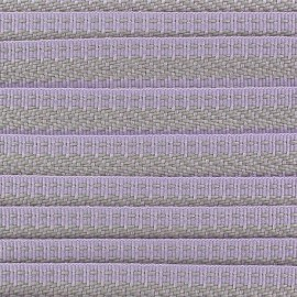 Grosgrain aspect ribbon, Ethnic incas pattern - purple/grey