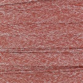 Flat Linen Braid Ribbon 10 mm - Red