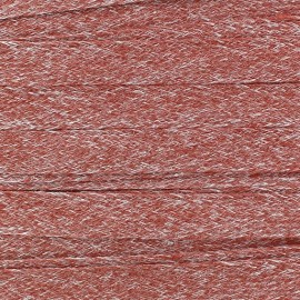 Flat Linen Braid trimming Ribbon 10 mm - Red