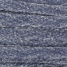 Flat Linen Braid trimming Ribbon 10 mm - Navy